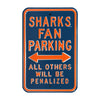San Jose Sharks Steel Parking Sign-ALL OTHER FANS PENALIZED