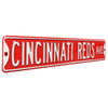 Cincinnati Reds Steel Street Sign-CINCINNATI REDS AVE