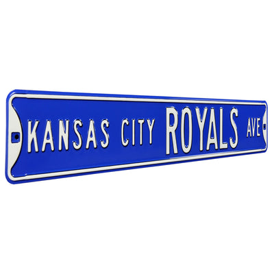Kansas City Royals Steel Street Sign-KANSAS CITY ROYALS AVE