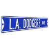 Los Angeles Dodgers Steel Street Sign-L.A. DODGERS AVE