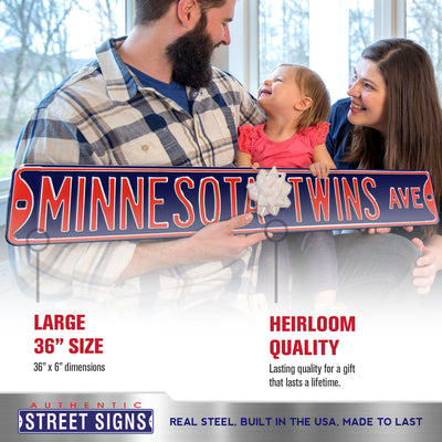 Minnesota Twins Steel Street Sign-MINNESOTA TWINS AVE