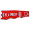 Philadelphia Phillies Steel Street Sign-PHILADELPHIA PHILLIES AVE