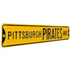 Pittsburgh Pirates Steel Street Sign-PITTSBURGH PIRATES AVE