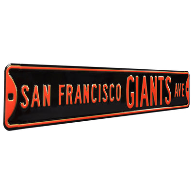 San Francisco Giants Steel Street Sign-SAN FRANCISCO GIANTS AVE