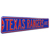 Texas Rangers Steel Street Sign-TEXAS RANGERS AVE