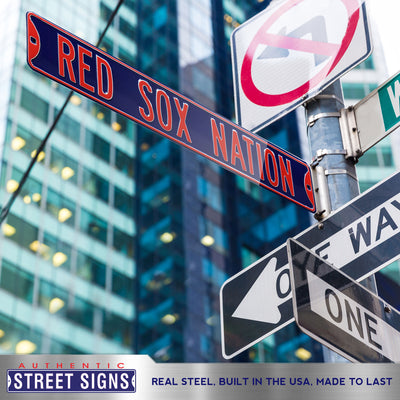 Boston Red Sox Steel Street Sign-RED SOX NATION