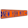 New York Mets Steel Street Sign-NEW YORK METS AVE on Orange
