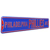 Philadelphia Phillies Steel Street Sign-PHILADELPHIA PHILLIES AVE Blue