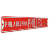 Philadelphia Phillies Steel Street Sign with Logo-PHILADELPHIA PHILLIES WS 2008