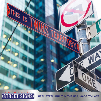 Minnesota Twins Steel Street Sign-THIS IS TWINS TERRITORY