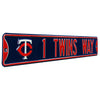 Minnesota Twins Steel Street Sign with Logo-1 TWINS WAY w/ Logo