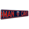 Minnesota Twins Steel Street Sign with Logo-MAN CAVE
