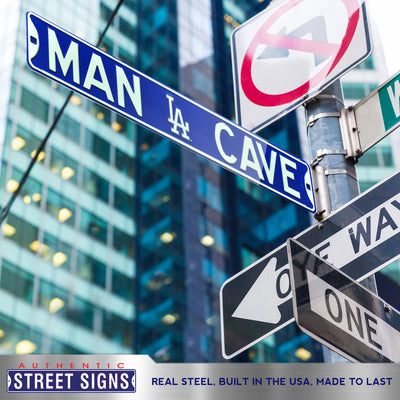 Los Angeles Dodgers Steel Street Sign with Logo-MAN CAVE