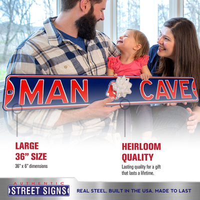 Boston Red Sox Steel Street Sign with Logo-MAN CAVE