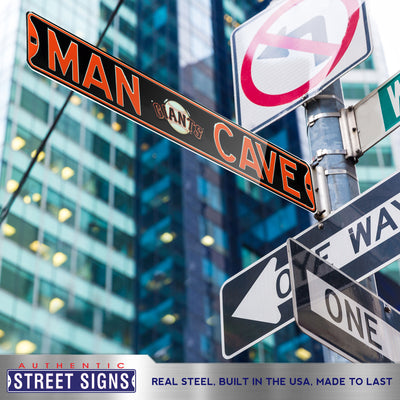 San Francisco Giants Steel Street Sign with Logo-MAN CAVE