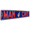 Cleveland Indians Steel Street Sign with Chief Wahoo -MAN CAVE