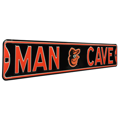 Baltimore Orioles Steel Street Sign with Logo-MAN CAVE