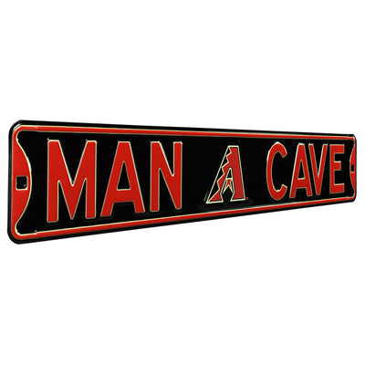 Arizona Diamondbacks Steel Street Sign with Logo-MAN CAVE