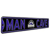 Colorado Rockies Steel Street Sign with Logo-MAN CAVE