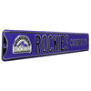 Colorado Rockies Steel Street Sign with Logo-ROCKIES COUNTRY w/ Logo