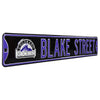 Colorado Rockies Steel Street Sign with Logo-BLAKE STREET w/Logo