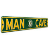 Oakland Athletics Steel Street Sign with Logo-MAN CAVE