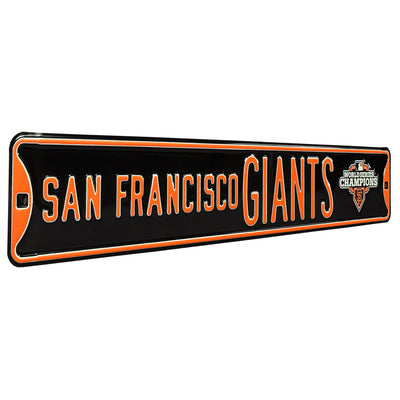 San Francisco Giants Steel Street Sign with Logo-WS 2012 Champions