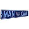 Tampa Bay Rays Steel Street Sign with Logo-MAN CAVE