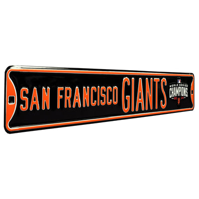 San Francisco Giants Steel Street Sign with Logo-WS 2014 Champions