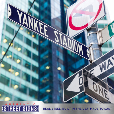 New York Yankees Steel Street Sign-YANKEE STADIUM