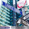 Los Angeles Dodgers Steel Street Sign-CHAVEZ RAVINE
