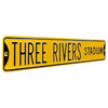 Pittsburgh Pirates Steel Street Sign-THREE RIVERS STADIUM