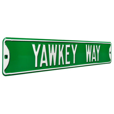 Boston Red Sox Steel Street Sign-YAWKEY WAY on Green