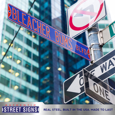 Chicago Cubs Steel Street Sign-BLEACHER BUMS