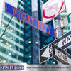 Chicago Cubs Steel Street Sign-WRIGLEY FIELD on Blue