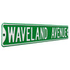 Chicago Cubs Steel Street Sign-WAVELAND AVE