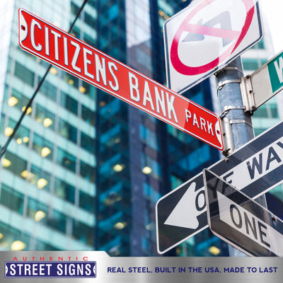 Philadelphia Phillies Steel Street Sign-CITIZENS BANK PARK