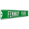 Boston Red Sox Steel Street Sign-FENWAY PARK on Green