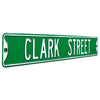 Chicago Cubs Steel Street Sign-CLARK STREET