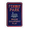 Boston Red Sox Steel Parking Sign-FENWAY/PARK/CHAMPIONS/PLAY w/WS 2004