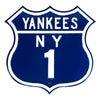 MLB New York Yankees Metal Route Sign- US-1