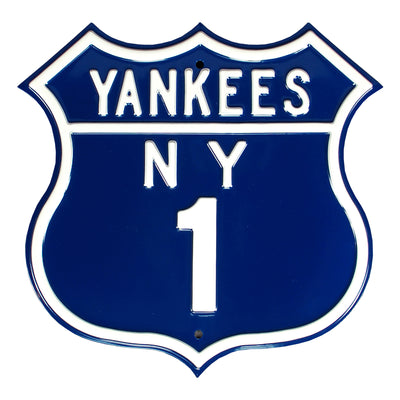 New York Yankees Steel Route Sign-NY-1