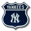 MLB New York Yankees Metal Route Sign- NY Logo