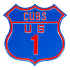 MLB Chicago Cubs Metal Route Sign- US-1