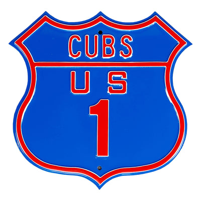 Chicago Cubs Steel Route Sign-US-1