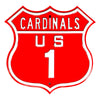 MLB St. Louis Cardinals Metal Route Sign- US-1