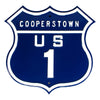 New York Yankees Steel Route Sign-Cooperstown US-1