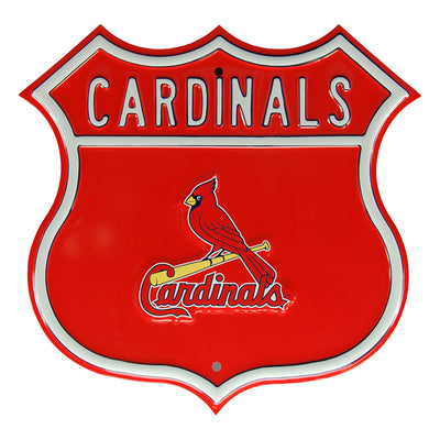St Louis Cardinals Steel Route Sign-Primary Logo