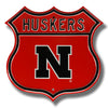 NCAA Nebraska Huskers Metal Route Sign