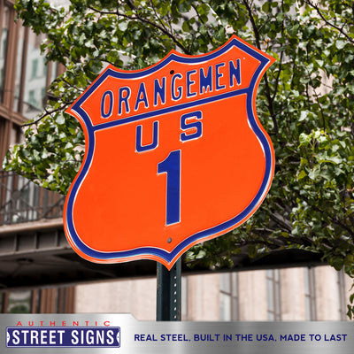 Syracuse Orange  Steel Route Sign-ORANGEMEN US-1
